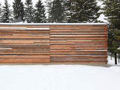 best architects architektur award // Reichel Schlaier Architekten / Garage in Holzstapelbauweise