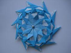 Boa tarde, origamigos!   Ando sem muito tempo para postar, mas passei hoje por aqui, especialmente para postar o tutorial da Samuel Star, qu...