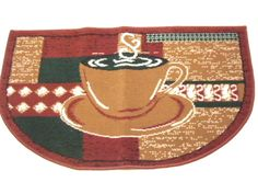 This Is The Perfect Rug For A Coffee Themed Kitchen. Featured Is A Steaming  Cup