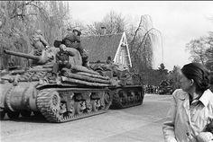 Tank op Bornsestraat ter hoogte van de Windslaan