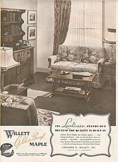 Willett Golden Beryl Maple Furniture ad