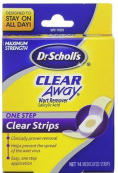 Dr. Scholl's Clear Away Wart Remover One Step Clear Strips