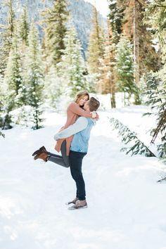 AK Studio Design | Whitney Hunt | Big Cottonwood Canyon Snowy Engagment Photography | Utah Snowy Mountain Engagements | Winter Engagement Photography | Utah Wedding Photographer | Brianna + Logan Engagements | Salt Lake City Utah Engagement Photography | AKStudioDesign.com