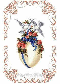 Cross Stitch Flowers, Cross Stitch Patterns, Easter Cross, Crochet Cross, Hobbies And Crafts, Cross Stitching, Diy Clothes, Embroidery Designs, Needlework
