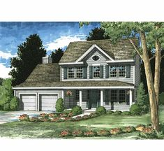 Farmhouse House Plan with 1790 Square Feet and 3 Bedrooms(s) from Dream Home Source | House Plan Code DHSW73177