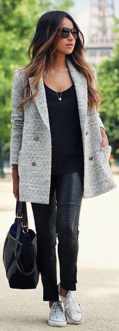 С чем носить кожаные брюки? 15 актуальных идей и галерея фото | Gedonistka.com
