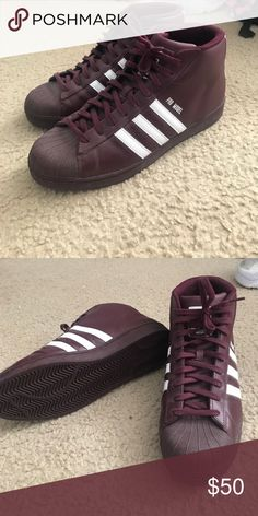 dbda40792a012 Addidas pro model Men s size 11.5 perfect condition maroon adidas Shoes