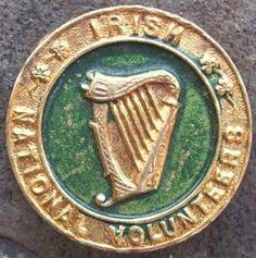 IRISH NATIONAL VOLUNTEERS LAPEL BADGE.