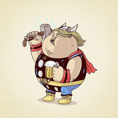 Oh my hero Thor?! | FUN SERIES OF CHUNKY CHARACTER DESIGNS BY ALEX SOLIS | read the blog: http://martineken.com/illustration/fun-series-of-chunky-character-designs-by-alex-solis