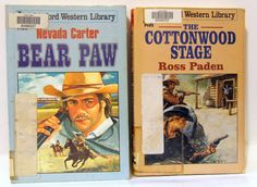 Linford Western Large Print Book Lot  Bear Paw and The Cottonwood Stage