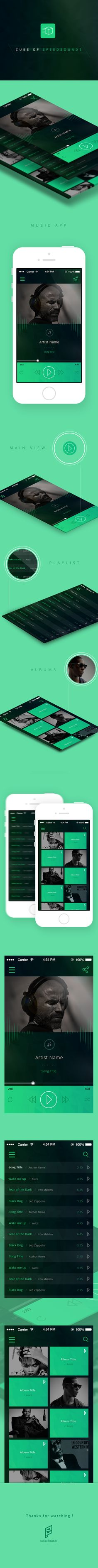 Cube of SpeedSounds - Music App Web Design Studio, Creative Web Design, Ui Ux Design, Gui Interface, User Interface Design, Mobile Web Design, Music App, Ui Design Inspiration, User Experience Design