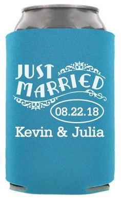 Check out this customizable product from www.totallyweddingkoozies.com//store/one-color-collapsible-wedding-can-cooler.html?template=6745&sku=TWC