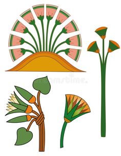 Illustration about Original egyptian ornaments from pyramids and tombs. Illustration of flowers, ancient, design - 10257523 Lotus Kunst, Lotus Art, Egyptian Decorations, Ancient Egypt Art, Pyramids Egypt, Arabic Pattern, Futuristic Art, Egyptian Art, Egyptian Things