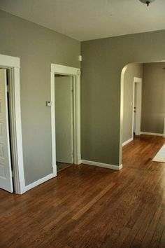 Wood Floor & Gray Walls