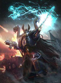 Thousand Sons Chaos Space Marine Sorcerer Warhammer Fantasy, Warhammer 40k Rpg, Warhammer Online, Warhammer Games, Eternal Crusade, Detective, Chaos Daemons, Thousand Sons, Space Wolves