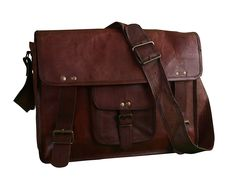 Shaista Handicraft Office College School Genuine Leather Laptop Briefcase Messenger Bag ** Check out the image by visiting the link. (This is an Amazon Affiliate link and I receive a commission for the sales)