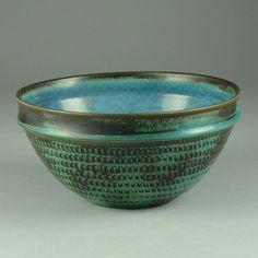 Stig Lindberg for Gustavsberg, bowl with turquoise glaze