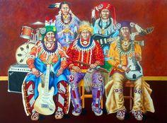 """Boys in the Band,"" by Indian Market Artist John Balloue (Cherokee)"