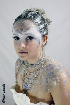 Snow Queen- maybe a mask of white