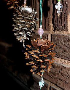 Winter Decor! Cute Pine Cone DIY project!