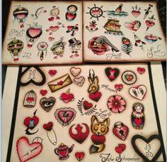 Valentine's Flash, Traditional Tattoo, San Luis Obispo, CA