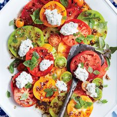 125 Sensational Summer Sides :: Here's our biggest collection of summer side dishes that will be a hit at any backyard BBQ, park picnic, family fiesta, or fabulous fête. :: Tomato Salad with Herbed Ricotta and Balsamic Vinaigrette