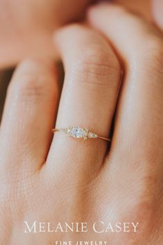 Petite Engagement Ring, Small Engagement Rings, Beautiful Engagement Rings, Designer Engagement Rings, Engagement Rings Minimalist, Engagement Ring Styles, Minimalist Wedding Rings, Engagement Ring Vintage, Delicate Engagement Ring