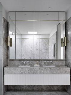 A Mid-Century Sensation by Mim Design – Marble Bathroom Dreams Bad Inspiration, Bathroom Inspiration, Bathroom Interior Design, Home Interior, Interior Plants, Interior Decorating, Modern Bathroom, Master Bathroom, Bathroom Marble