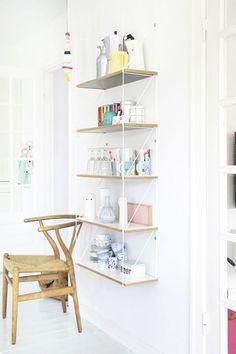 I love these floating shelves! at home with: mor til mernee. Decor, Furniture, Interior, Pastel House, Home Decor, House Interior, Home Deco, Interior Design, Home And Living
