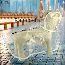 Creative Dog Raincoat With Hat Small Dog Clear Waterproof Clothes With Cape Rainwear in Rainy Day Free Shipping, Transparent