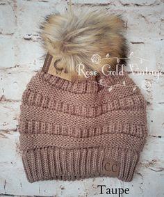 A little twist on the popular CC beanie hats - a faux fur pom pom on 02aacc3ea522