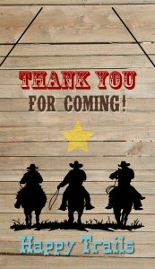 Free Cowboy Party Favor Tags Printable