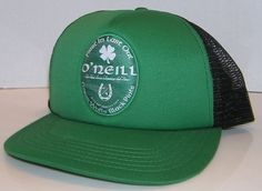 O'Neill Green Walls Black Pints Surfboard Irish Green Trucker Mesh Snapback Hat #ONeill #Trucker Hats For Sale, Pints, Green Walls, Snapback Hats, Surfboard, Irish, Black, Pint Glass, Irish Language