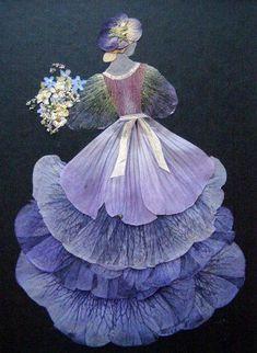 Oshibana (pressed flower art) by Tatiana Berdnik - photo from Matin Lumineux blog