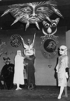 """Leonora Carrington set & costumes for the play Penelope, 1957."
