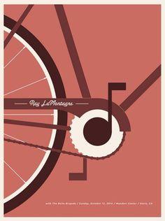 Ray LaMontagne gig poster for Mondavi Center in Davis, CA on October 12, 2014. Poster by Jason Munn.