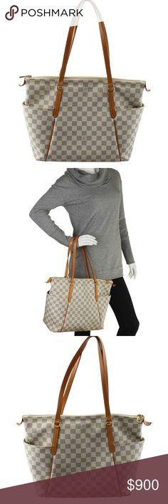 Tendance salopette 2017  Louis Vuitton Totally MM Damier Azur Tote 135653 Designer: Louis Vuitton E