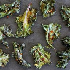 TONS of Kale Chip Recipes with all different flavors.  Salt & Vinegar and list goes on and on