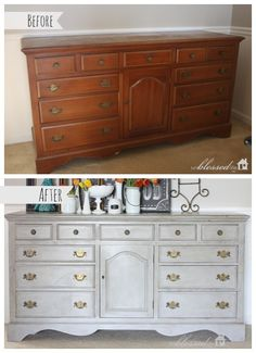 Thrifted Dresser Turned Buffet {With Annie Sloan Chalk Paint}