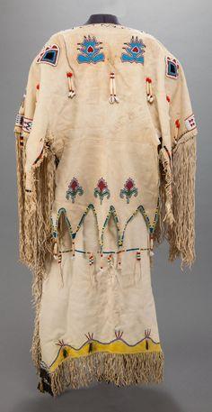 Kiowa Beaded Hide Dress (BACK) - c. 1910. ------ (Vedauwoo Antiquities)