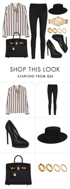 """""""Sin título #12569"""" by vany-alvarado ❤ liked on Polyvore featuring Yves Saint Laurent, Hermès, Made and Michael Kors"""
