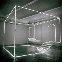 Massimo Uberti's neon light installation #art... - EnjoyGram