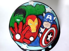 Avengers Cake close up Avenger Cake, Avengers Birthday, Little Man, Boy Room, How To Make Cake, Logan, Party Themes, Bakery, Nyc
