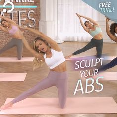 Just 30 Minute Workouts - Abs Workout Fitness Workout For Women, Fitness Diet, Yoga Fitness, Pilates Training, At Home Workout Plan, At Home Workouts, Studio Workouts, Pilates Studio, Pilates Videos