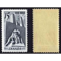 1968 CANADA SCOTT #486 MINT NEVER HINGED VF 15¢ VIMY WAR MEMORIAL STAMP, SCV$1.40. Buy it on eBid Canada | 151874295