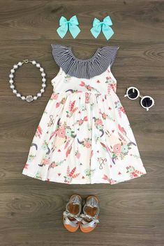 940a6c93e49 The Emily Floral Feather Dress Cute Outfits For Kids
