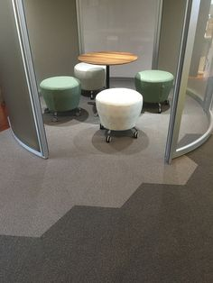 We recently undertook a project with Haworth in Melbourne, where we gave their showroom a colourful refresh with our Hexagon Carpet Tiles. #hexagon #carpettiles #flooring #design