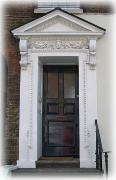 This Is A Handsome Door Case With A Triangular Pediment, A Moulded Frieze  And Dentil
