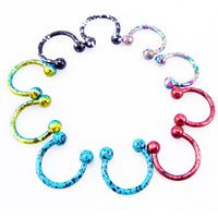 Mixed Color Fashion Horseshoe Ring Micro Circular Barbell Nose Hoops And Septum Rings Tragus Piercing Wholesales Septum Ring, Septum Piercing Jewelry, Industrial Piercing Jewelry, Helix Jewelry, Face Piercings, Tragus Piercings, Body Jewelry, Unique Piercings, Jewlery