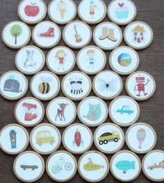 Free printable story starter coins for kids.